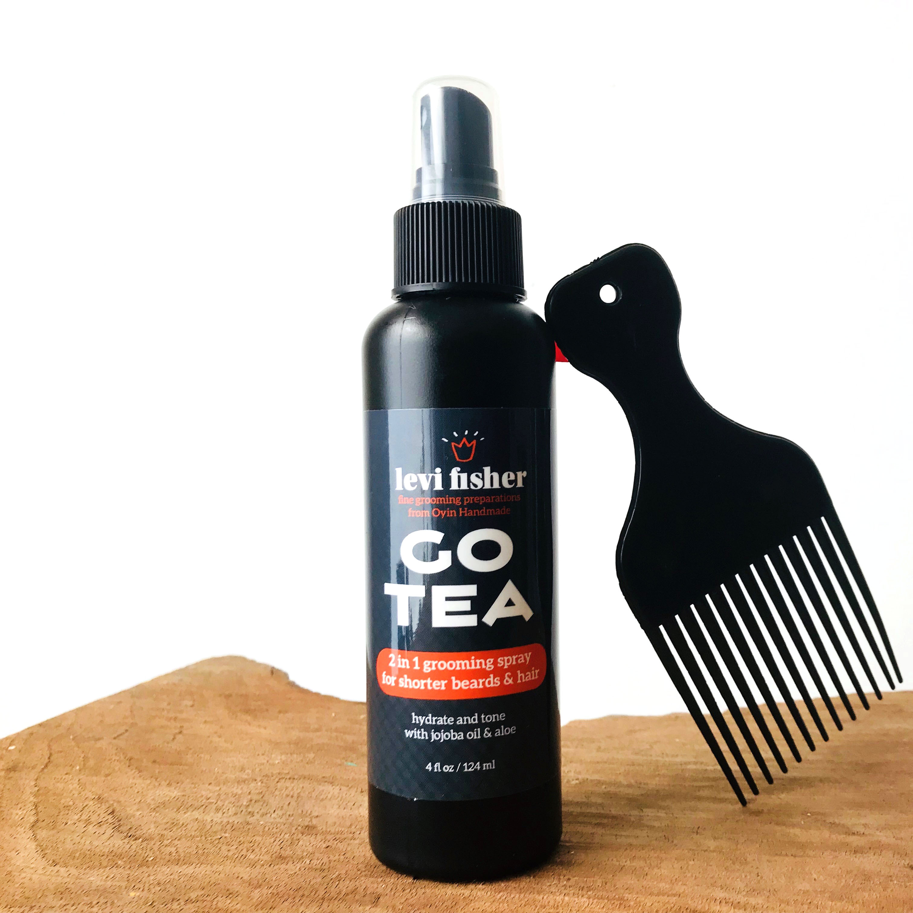 GO TEA ~ HERBAL GROOMING SPRAY FOR SHORT HAIR & BEARDS